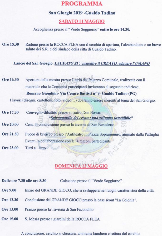 San Giorgio 2019 | M.A.S.C.I. Emilia Romagna